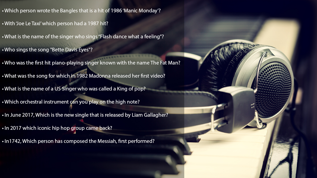 trivia questions on music