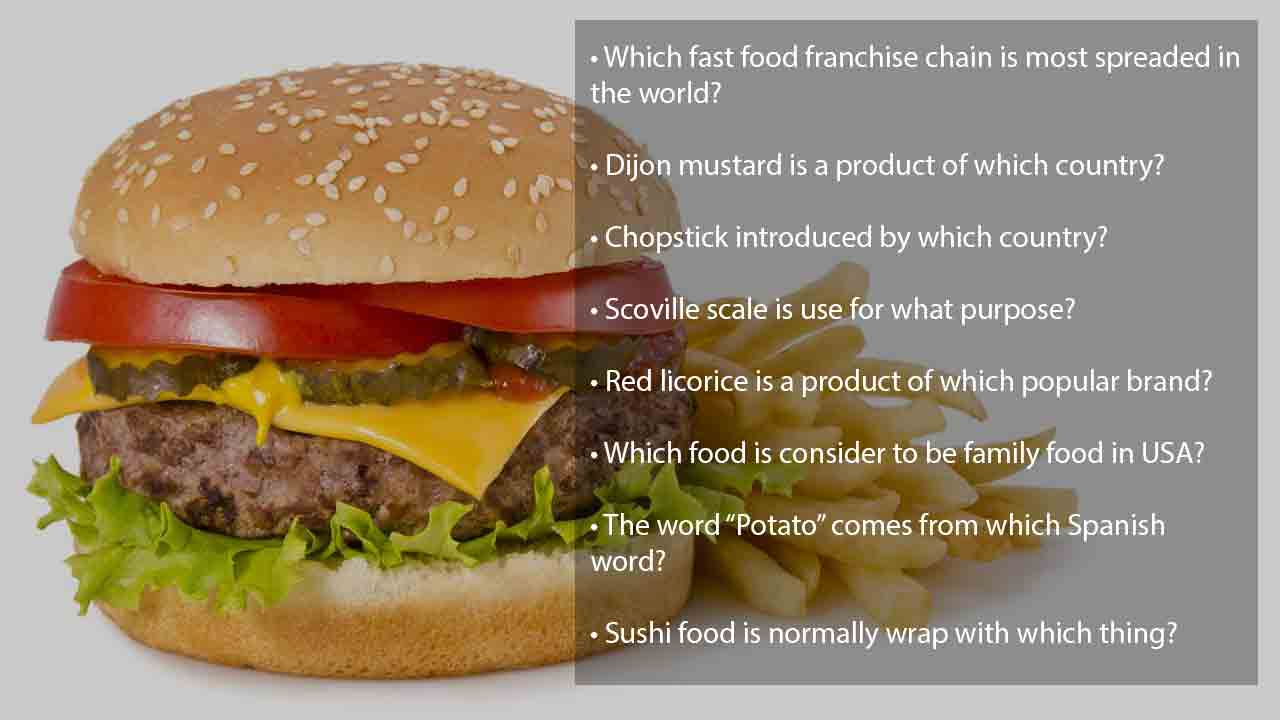 140+ top food trivia questions [Fast foods & healthy foods]