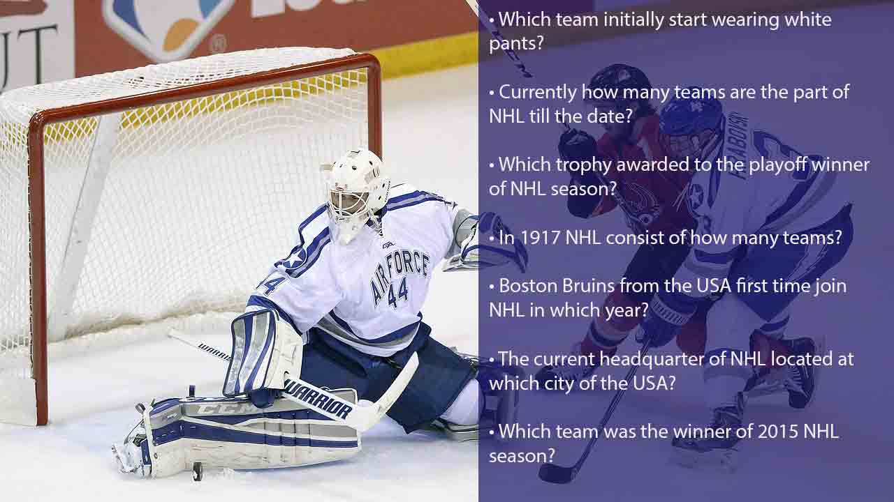 NHL trivia questions with answers