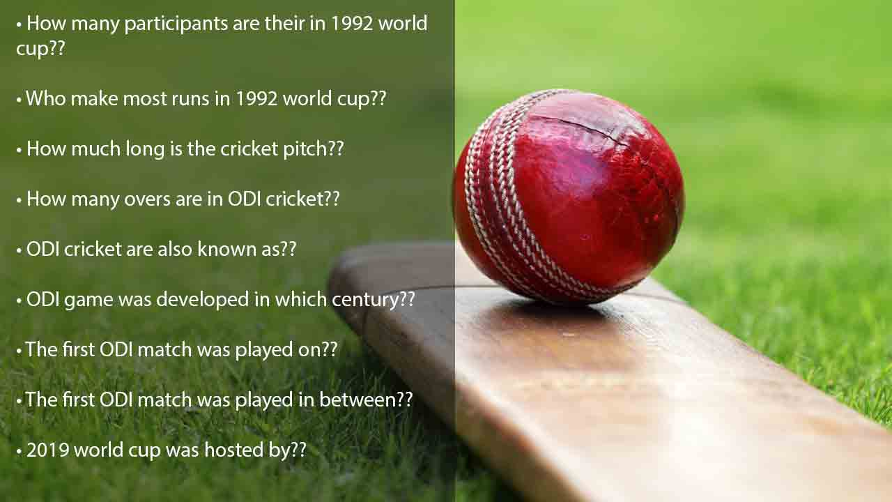 Cricket facts and trivia