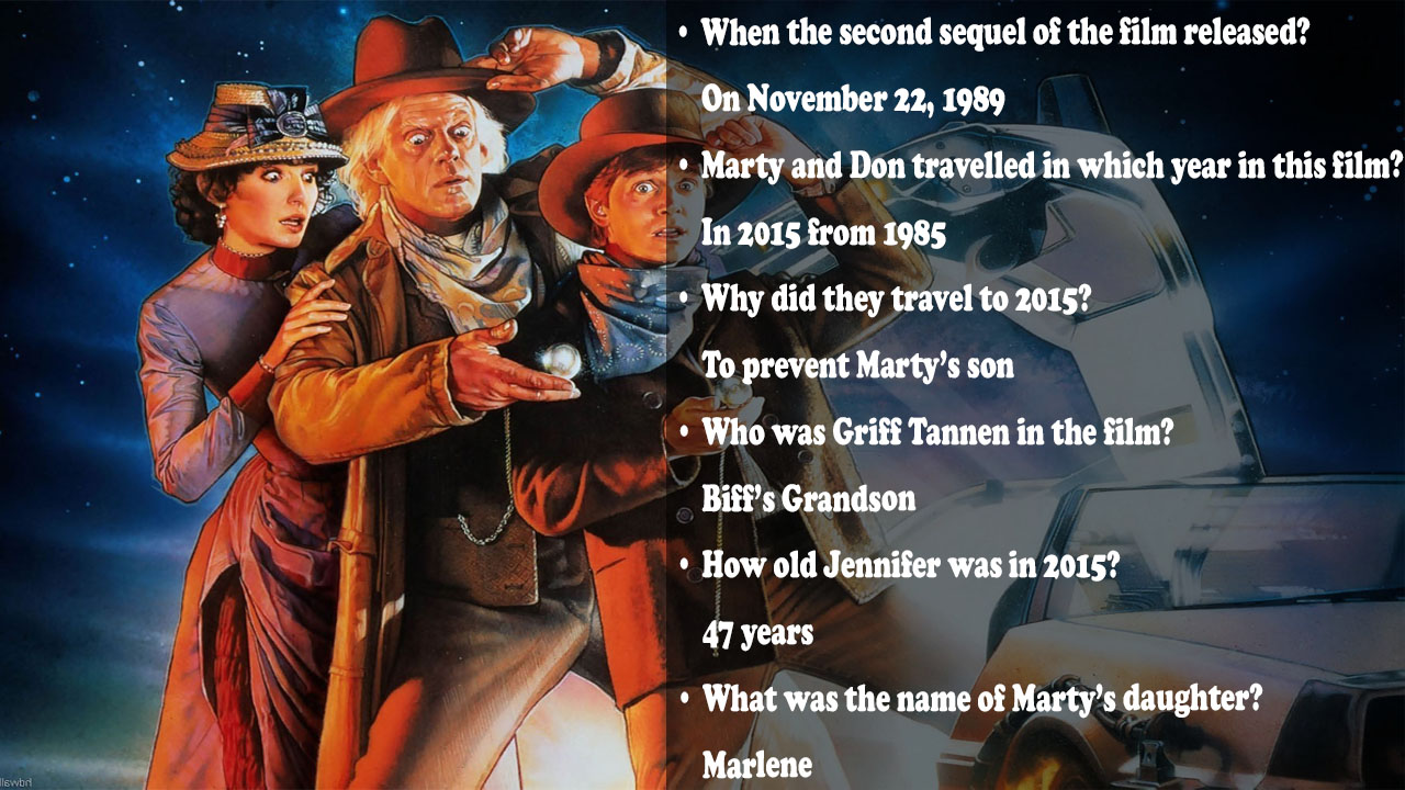 Back to the Future Trivia Question