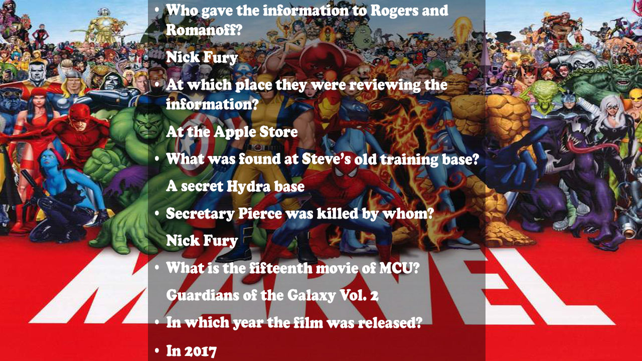 MarvelTriviaQuestion