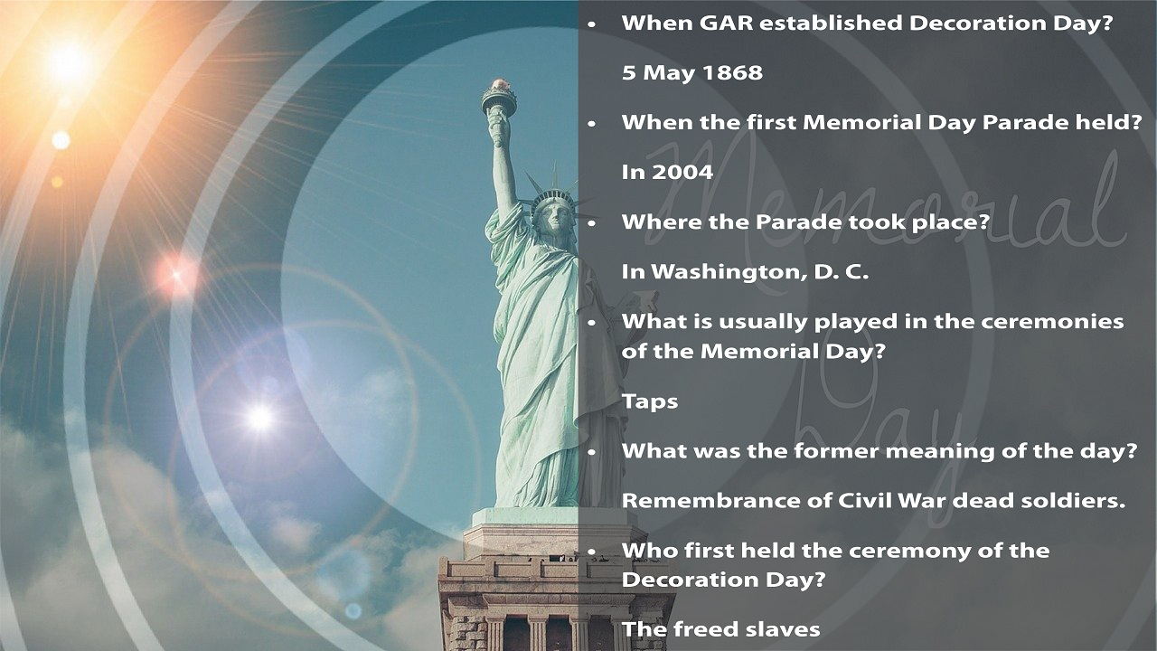 Memorial Day Facts Trivia